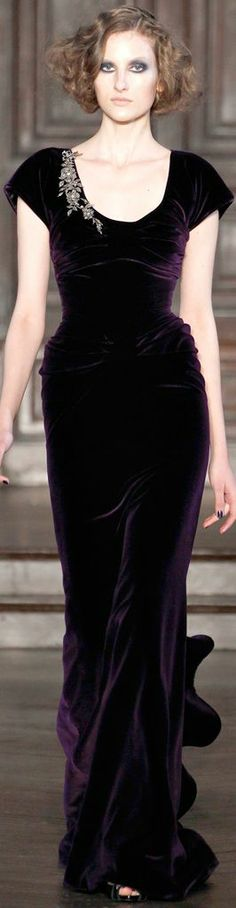 L'Wren Scott Fall 2012 RTW plum velvet gown. i have a problem with velvet. i want it. all of it.