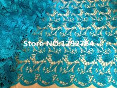Free shipping! Wholesale price TS610 high quality Cupion / Guipure lace  5 yards  fabric 100% cotton / polyester hot on sale