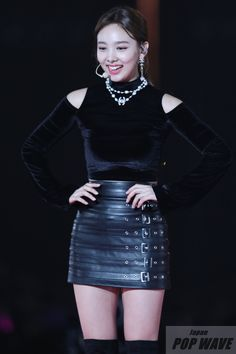Stage Outfits, Kpop Outfits, Nayeon Twice, Elizabeth Gillies, Im Nayeon, Kpop Girls, Asian Beauty, Asian Girl, Leather Skirt