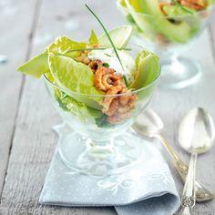 Frisse garnalencocktail met avocado