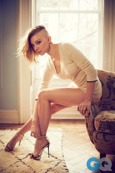 Natalie Dormer Shaved Her Hair And Posed Topless For GQ. She's enchanting. The end.