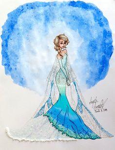 Snow Queen Inspired Dress by angelaaasketches.deviantart.com on @deviantART