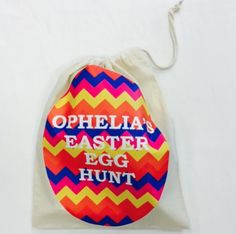 Easter is coming! Personalised sacks for your eggs at #jual #personalisedgifts #personalisedbags #easter  £8.99 contact olivia@jual.co.uk for more details ❤️