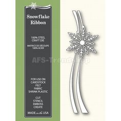 Poppystamps die 1249 - Snowflake Ribbon