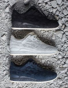 The Reigning Champ x Asics Gel Lyte 3 collaboration consists of three tonal offerings of the Gel Lyte 3.