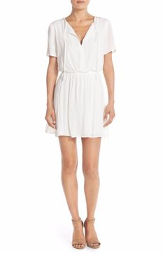 Charles Henry Crepe Blouson Dress Size Medium Ivory $88 FTC #4039