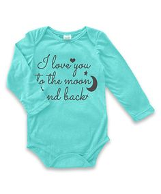 Take a look at this Aqua 'Moon & Back' Bodysuit - Infant today!