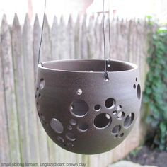small lantern by cgceramics Ceramic Pinch Pots, Ceramic Clay, Ceramic Pottery, Pottery Art, Pottery Ideas, Ceramic Lantern, Ceramic Light, Ceramic Techniques, Pottery Techniques