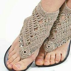 Flip flop crochet