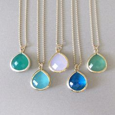 Glass Pendant Necklace  by Tangerine Jewelry Shop