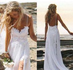 Custom Made A Line Backless Lace Wedding Dresses, #BridalDresses #WeddingGowns #Wedding #WeddingDresses
