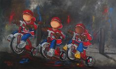 camp d'entrainement Montreal Canadiens, Sports Art, Tole Painting, Art Tutorials, Art For Kids, Hockey, Creations, Camping, Paintings