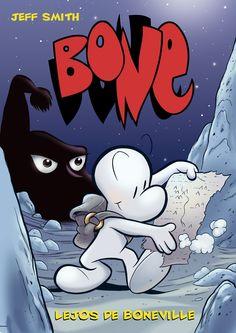 Bone 1. Lejos de Boneville. Déjate sorprender por esta obra en la que los protagonista se pierden y viven múltiples aventuras hasta que vuelven a encontrarse.