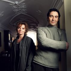 Nathaniel Parker and Sharon Small in the Inspector Lynley Mysteries, 2001-8