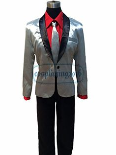 NEW! Halloween Suicide Squad Joker Costume Cosplay Silver Jacket Coat Psychos Killers (M, Silver Jacket Only) -- Awesome products selected by Anna Churchill