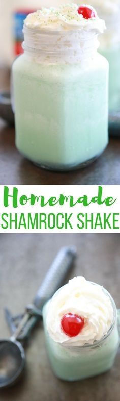 Love McDonald's Shamrock Shake? Try this cheaper Homemade Shamrock Shake that you can make right in your own kitchen. via @simplymommy