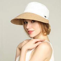 8981b56e874 Leisure straw sun hat for women UV wide brim hats summer wear