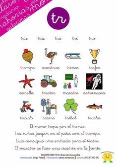 taller-de-lectoescritura-trabada-cartilla-recursosep-tr-001 Learning Spanish, Map, Education, Creative, Kids, Alphabet, 5 Years, Reading Comprehension, Vocabulary