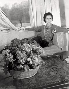 Coco Chanel wearing Verdura's 'Maltese Cross' bangles