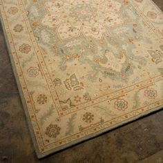 Jaipur Poeme Orleans Hand Tufted Wool Rug. I do not know why I adore antique themed rugs, or just awesome rugs in general, but I do