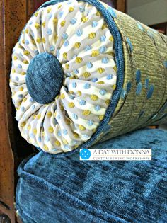 How to make a bolster pillow with sunburst ends. Using a pool noodle is one way to make an insert. Or use a foam insert for a more professional pillow.