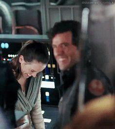 Oscar Isaac & Daisy Ridley, behind the scenes of Star Wars: The Last Jedi
