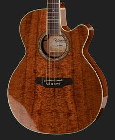 Western guitar NEX form with cutaway, Top and back: Koa, Fretboard: Bordered…