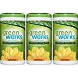 Green Works Compostable Cleaning Wipes, Original Fresh, 186 Wipes Three 62 count canisters of Green Works Compostable Cleaning Wipes, Original FreshNaturally Cleaning Blinds, Cleaning Wipes, Cleaning Hacks, All Natural Cleaning Products, Eco Products, Green Products, Fall Cleaning Checklist, Expired Food, Clean Tile Grout