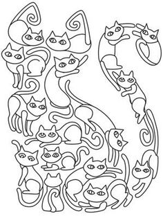 Cat O Cats Image Coloring Page