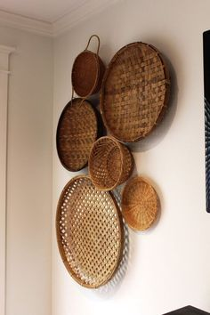 Home decor inspiration, Gifts Guides, and more — Xinh & Co. Home decor inspiration, Gifts Guides, and more — Xinh & Co. Home Decor Baskets, Basket Decoration, Baskets On Wall, Diy Home Decor, Wall Basket, Woven Baskets, Hanging Baskets, Living Room Decor, Bedroom Decor