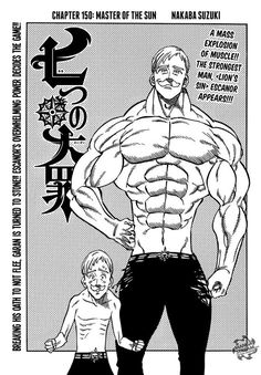 Afbeeldingsresultaat voor nanatsu no taizai manga escanor Watch Manga, Manga To Read, Escanor Seven Deadly Sins, Princesa Elizabeth, 7 Sins, Seven Deady Sins, Popular Manga, Skate Art, Amaterasu