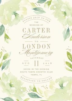 Southern Garden Wedding Invitations by Lori Wemple for Minted