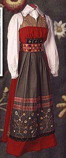 Livkjol, a traditional Swedish costume