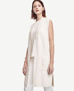 Primary Image of Fluid Sweater Vest 50 Fashion, Timeless Fashion, Everyday Outfits, Spring Summer Fashion, Ann Taylor, Dresses For Work, Style Inspiration, Clothes For Women, My Style