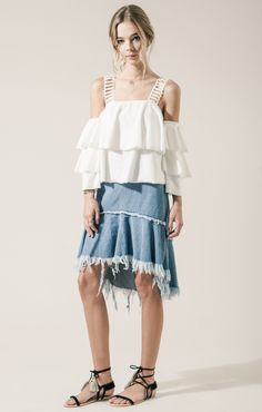 LACE STRAP DETAIL LAYERED KNIT TOP