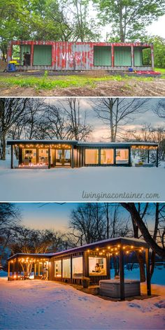 Tiny House Shipping Container, Sea Container Homes, Shipping Container Home Designs, Storage Container Homes, Building A Container Home, Container House Design, Container Home Plans, Shipping Container Interior, 40 Container
