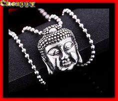 Mooi boeddha hoofd RVS Edelstaal - Cheappy