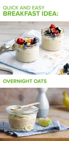 Smart meal prepping means more morning time! Mix rolled oats with Alpro Oat Original, Alpro Simply Plain and a pinch of salt and cinnamon. Let the magic happen overnight and then top it up with your choice of fruits: sliced banana, a sprinkle of fresh berries and freshly chopped almonds. Breakfast - Porridge - Oats