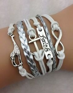 Infinity, Faith, Anchor, Giraffe ModWrap - Choose 3 FREE ModWraps with coupon: PINTERESTFREE when you cover shipping.  Over 60 designs to choose from. #free #bracelets