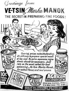 Vetsin advertisement. Old Advertisements, Advertising, Jose Rizal, Philippine Art, Philippines Culture, Filipino Culture, Pinoy Food, Old Ads, Historical Pictures