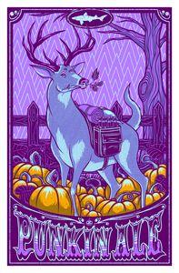Image of Dogfish Head 2013 Seasonal Art Prints A/P Edition - Punkin Ale