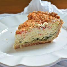 Torta d'italia, spinach and egg quiche