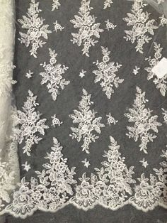 lace fabric, alencon lace fabric, cord lace with floral, wedding table runners, retro style bridal lace fabric for bridal dress