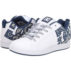 DC Court Graffik SE W Women's Skate Shoes, White ($46) ❤ liked on Polyvore featuring shoes, white, white shoes, dc shoes footwear, white skate shoes, dc shoes and leather skate shoes