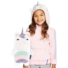 Cubcoats Uki The Unicorn - Hoodie and Soft Plushie - Pink and White 810002121180 Kids Outfits, Cool Outfits, Unicorn Hoodie, Unicorn Gifts, Animal Ears, Comfy Hoodies, Cute Characters, Best Mom, Plushies