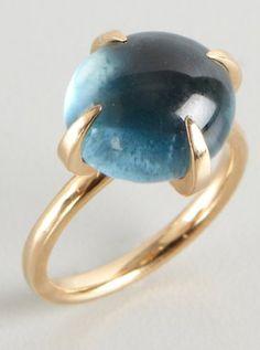 blue quartz 'Moon' ring