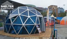 6m Spherical Tent Glass Dome House with PC Panel - Exhibition Domes -3