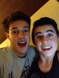Nash Grier and Cameron Dallas..srry I just got back from dying!