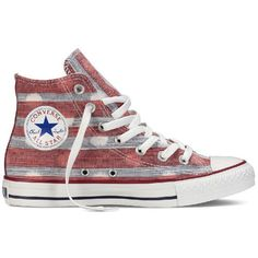 Converse Chuck Taylor All Stars Hi Shoes UK 5 Varsity Red Athletic Red. 5 F(M) UK. Smooth metallic cap toe. Rubber sole. Snake-embossed metallic finish. Leather upper, canvas lining, rubber sole. Brand New. Round toe; lace up. Canvas.