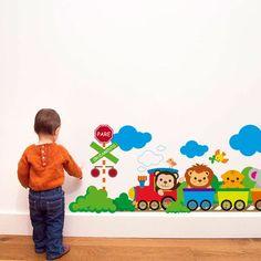 Adesivo Decorativo Trem Infantil